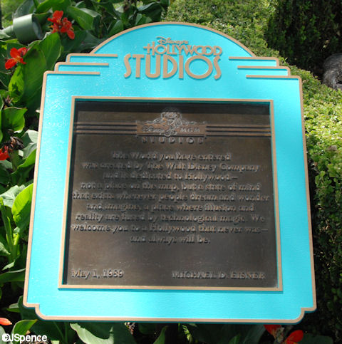 Studio Dedication Plaque