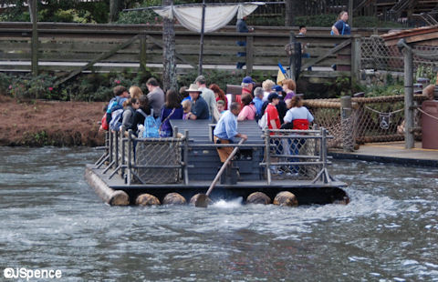 Raft on Rivers of America