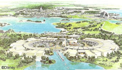 World Showcase Concept Drawing