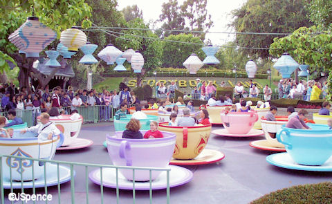 New Tea Cup Ride at Disneyland