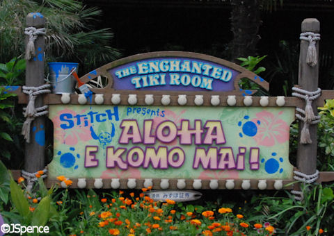 Tiki Room Entrance Sign