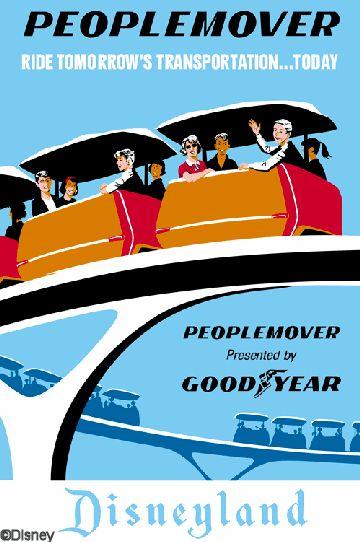 Disneyland PeopleMover Poster