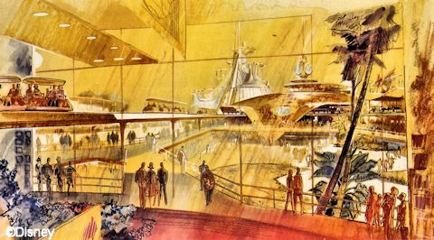 Space Mountain Concept Drawing