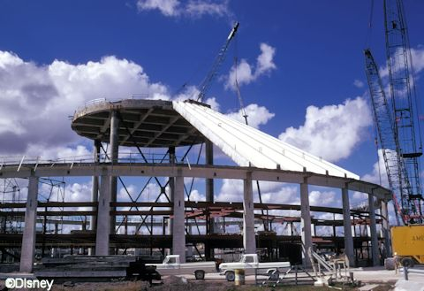 Space Mountain Under Construction