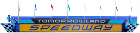 Tomorrowland Speedway Sign