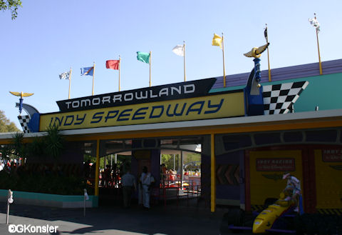 Tomorrowland Indy Speedway Entrance
