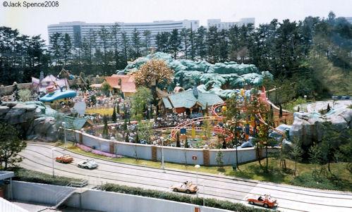 Toontown Tokyo Disneyland Aerial View