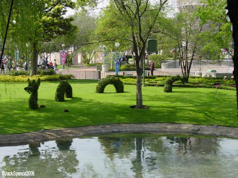 Sea Serpent Topiary at Tokyo Disneyland