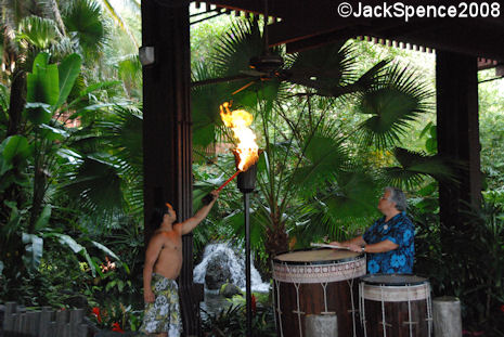 Torch Lighting Ceremony Polynesian Resort at Walt Disney World