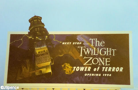 Tower of Terror Construction Billboard