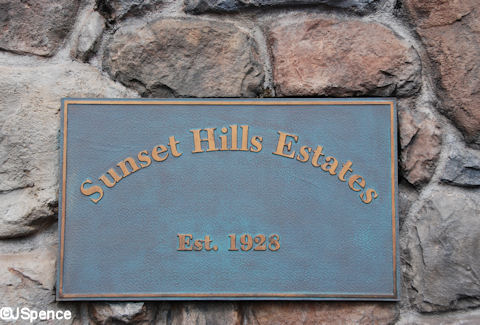 Sunset Hills Estates Plaque