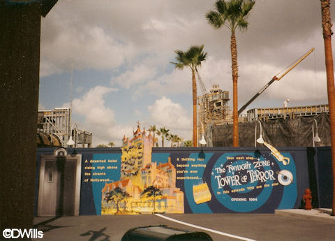 Tower of Terror Construction Photo