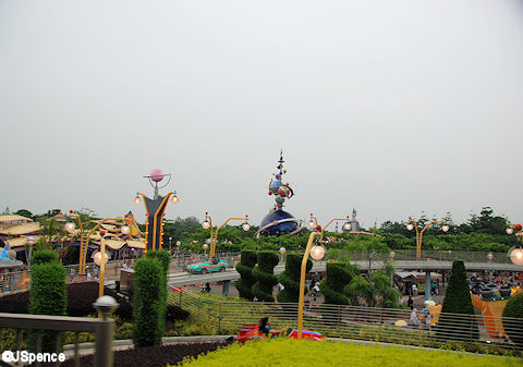 Tomorrowland as seen from the Steam Train