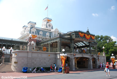 Main Street Train Station Magic Kingdom