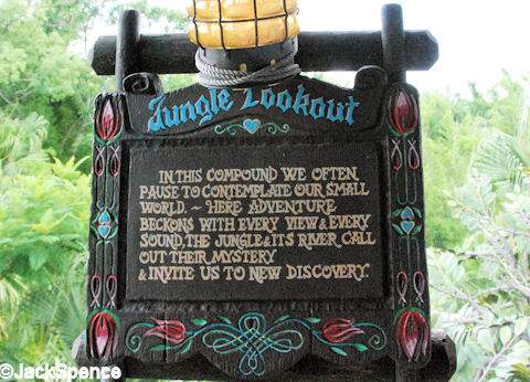 Jungle Lookout Sign