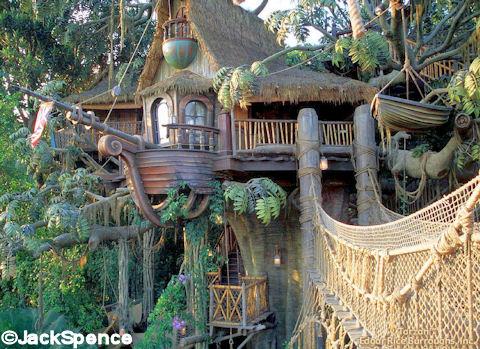 Tarzans Treehouse Disneyland Back At The Magic Kingdom