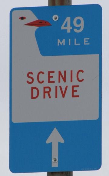 49-Mile Scenic Marker