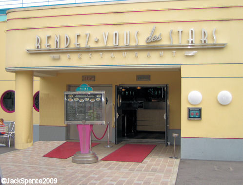 Walt Disney Studios Park Paris Production Courtyard Rendez-Vous des Stars Restaurant