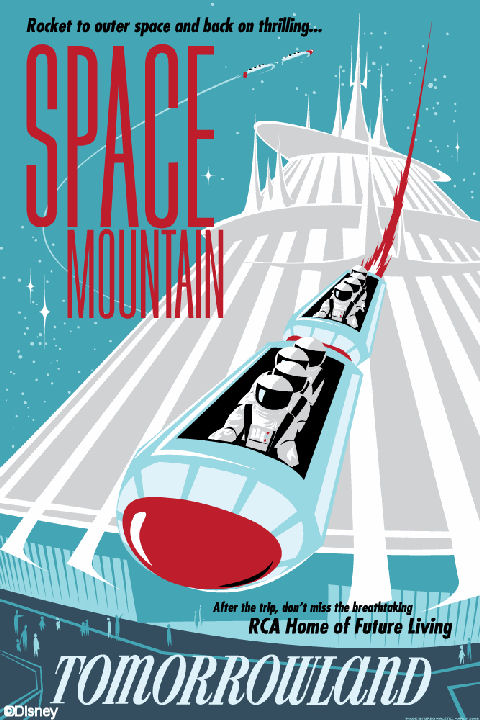 RCA Space Mountain Poster