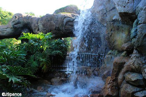 Discovery Island Waterfall