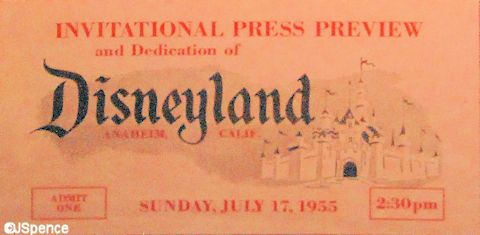 Disneyland Opening Day Ticket