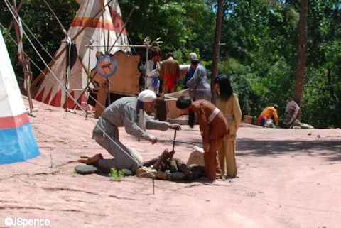 Native Americans at work in Frontierland