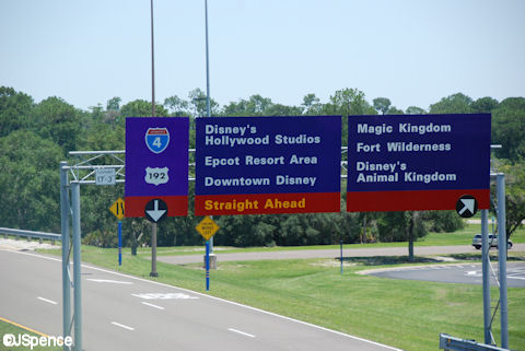 Walt Disney World Road Sign