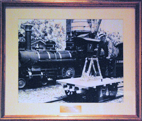 Picture of Walt on a Handcar
