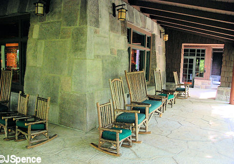 Villa Porch and Rocking Chairs