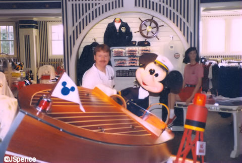 Mickey and Chris Craft Runabout. At the far end of the Yacht Club is the ...
