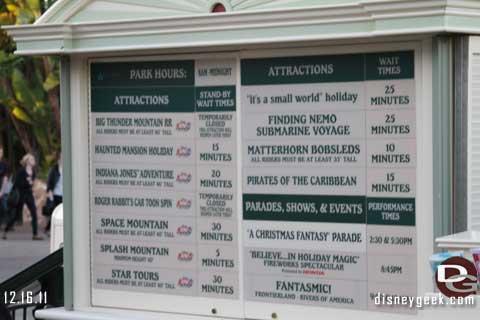Disneyland Resort Photo Update 12/16/11 - Part 2