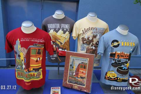 DCA Merchandise Showcase Event and Radiator Springs Racers Testing