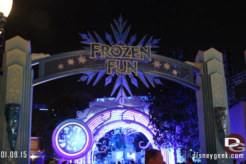 Freeze the Night - Disney California Adventure