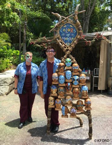 Disney Animal Kingdom Pandora Avatar Face Painting