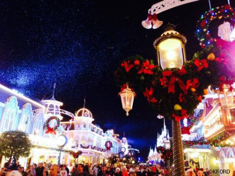 disney mickeys very merry christmas party snow main