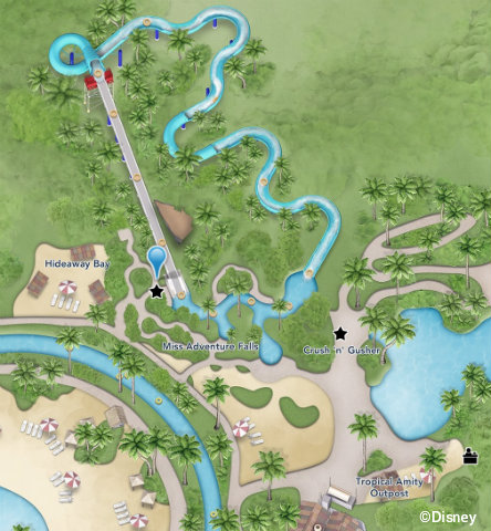 Miss Adventure Falls at Disney\'s Typhoon Lagoon offers ...
