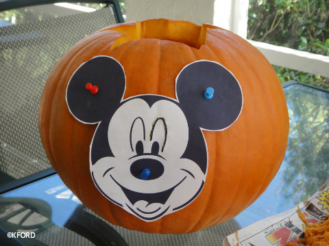 Mickey Mouse Pumpkin Carving | Pumpkin Carving Patterns - Garfield