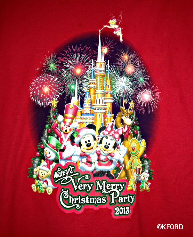 mickeys very merry christmas party 2013 merchandise design - Mickeys Christmas Party Tickets
