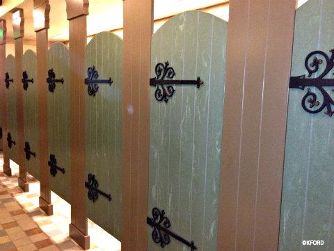 New rapunzel themed restrooms open at disney world 39 s magic for Bathroom decor orlando