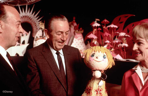 Marc Davis, Walt Disney, and Mary Blair