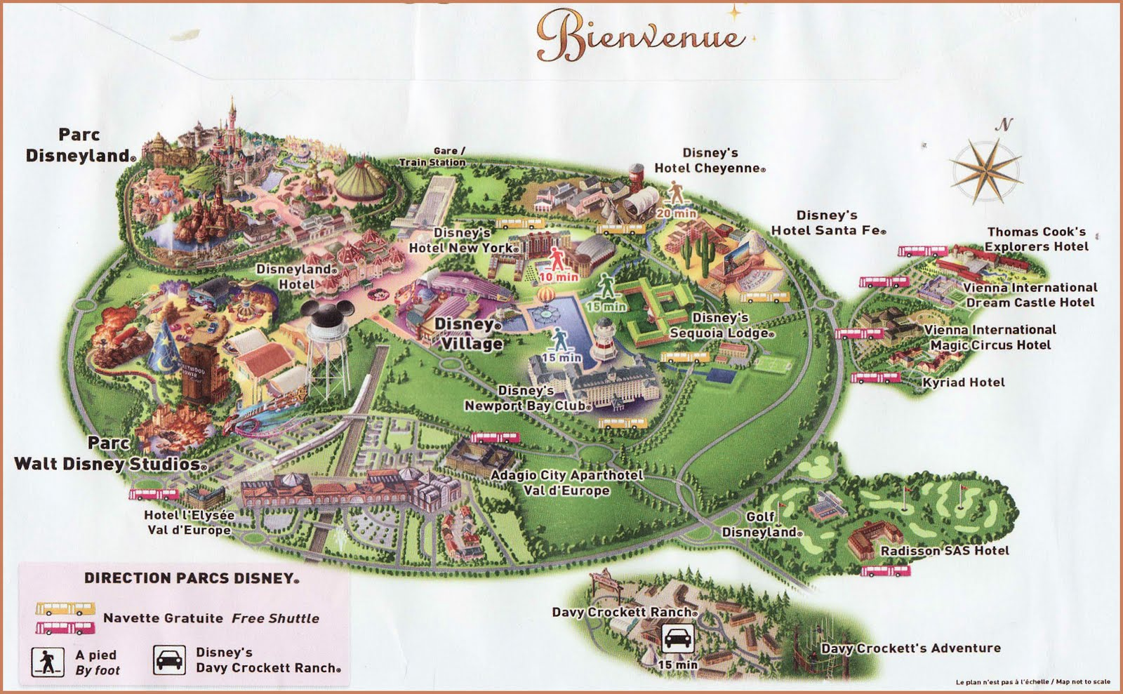 Map Disney Paris Hotels – Map of Paris with Hotels