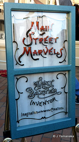 Tony Baxter Window on Main Street Ceremony Disneyland