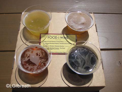 DCA Food and Wine Festival Beer Flight
