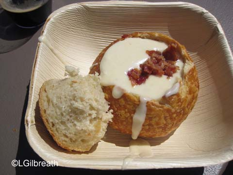 DCA Food and Wine Festival White Cheddar Ale and Bacon Soup