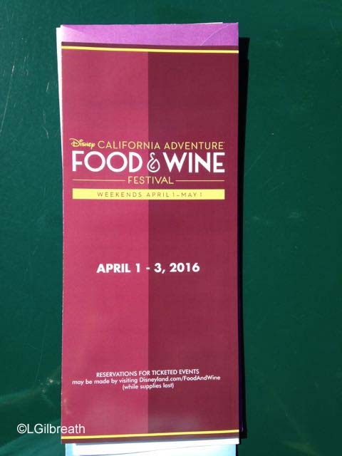 DCA Food and Wine Festival Map