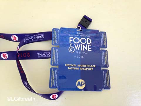 DCA Food and Wine Festival passport