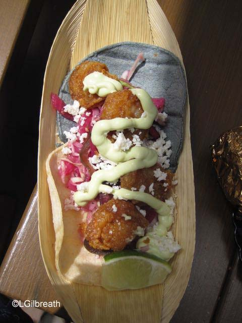 DCA Food and Wine Festival Fried Shrimp Soft Taco
