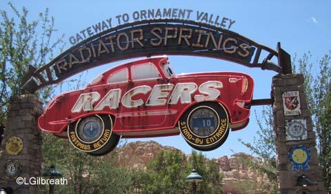 Radiator Springs  Racers   Cars Land  Disney's California Adventure Radiator Springs Racers Entrance