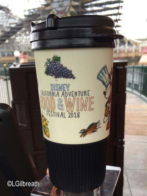 DCA 2018 Food and Wine Festival souvenir tumbler