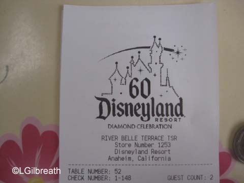 River Belle Terrace Diamond Receipt